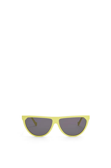 LOEWE Pilot Sunglasses in acetate Neon Yellow pdp_rd
