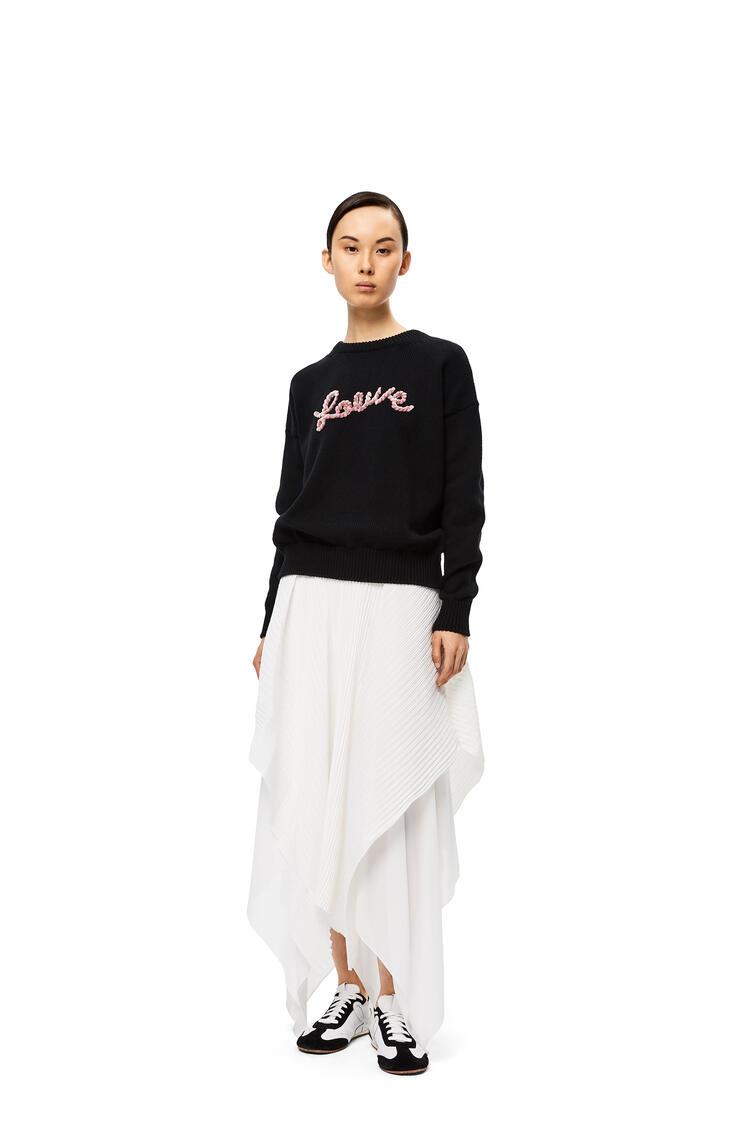 LOEWE LOEWE sweater in cotton Black pdp_rd