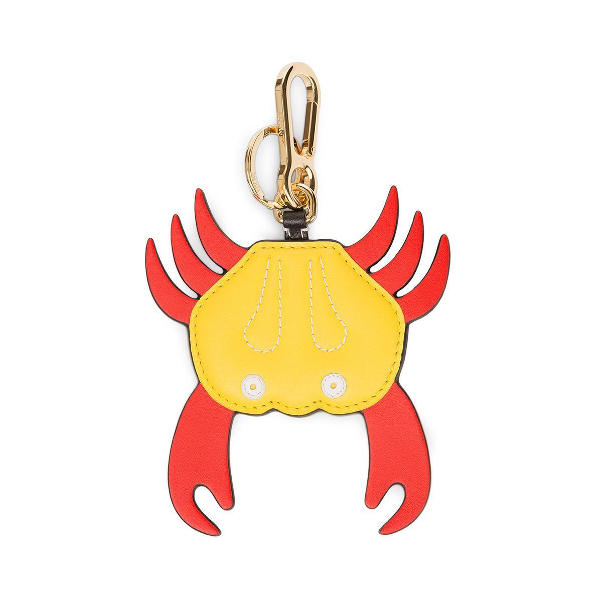 LOEWE Charm Cangrejo Rojo/Amarillo front
