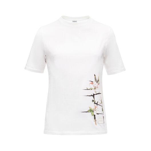 LOEWE T-Shirt Botanical Blanco front