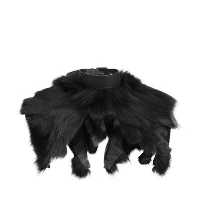 LOEWE Fur Collar Black/Palladium front