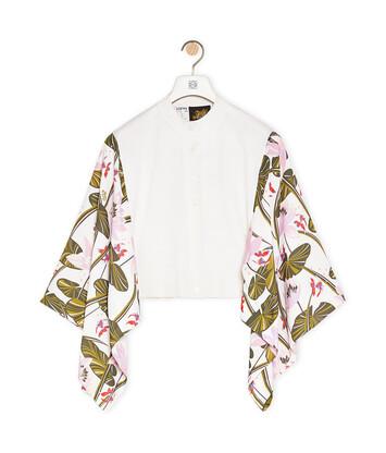 LOEWE Cardigan In Waterlily Silk And Wool 淡褐色 front