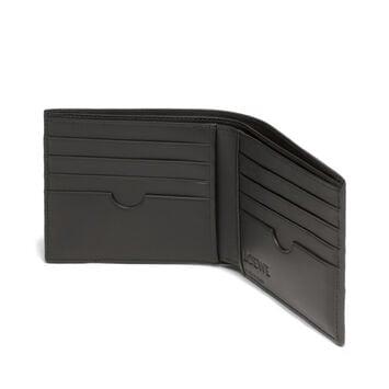 LOEWE Puzzle Bifold Wallet Multitext Black front