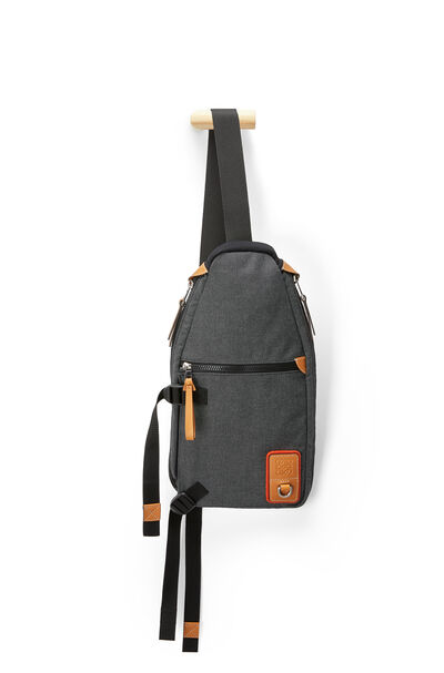 LOEWE Eln Sling Backpack Black front