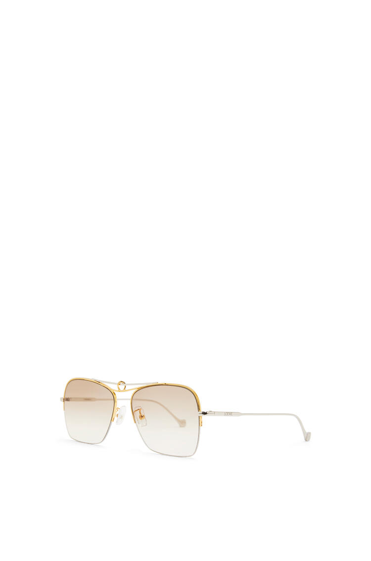 LOEWE KNOT PILOT SQUARE SUNGLASSES Rhodium Shiny/Gradient Brown pdp_rd