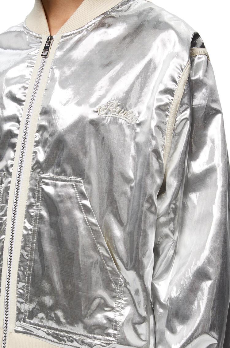 LOEWE シルバー ボンバー ジャケット (シルク&ポリエステル) シルバー pdp_rd
