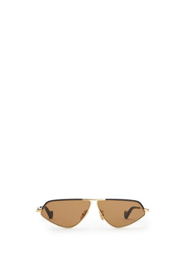 LOEWE LEATHER GEOMETRIC SUNGLASSES Capuccino pdp_rd