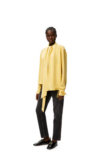 LOEWE Lavalliere top in silk crepe de chine Butter pdp_rd