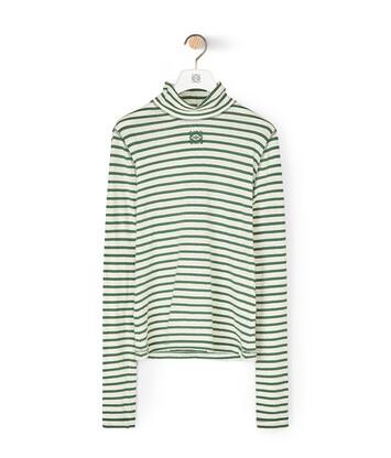 LOEWE Stripe Long Slv T-Shirt Green front