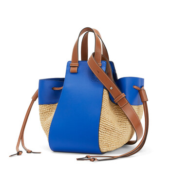 LOEWE Paula's Hammock Drawstring Medium Bag Blue/Natural front
