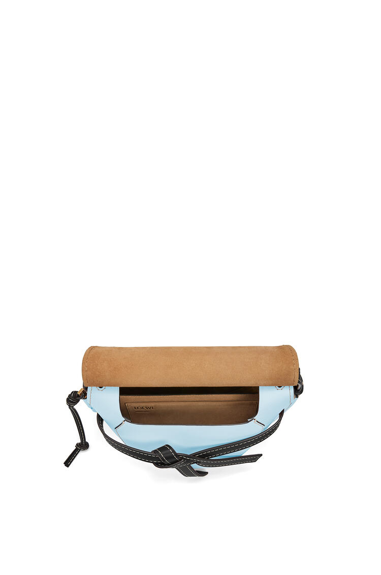 LOEWE Small Gate bag in soft calfskin Vintage Khaki/Crystal Blue pdp_rd