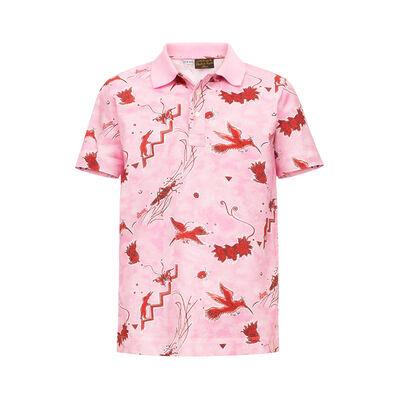 LOEWE Polo Paula Birds Pink/Red front