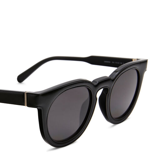 LOEWE Gafas Redondas Acolchadas Negro/Humo front