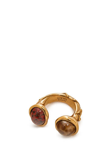 LOEWE Ring in metal Brown/Red pdp_rd