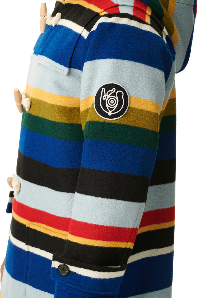 LOEWE Duffle Coat In Striped Wool Multicolor pdp_rd