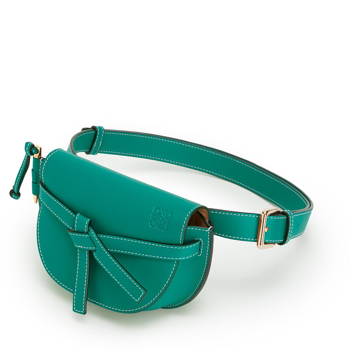 LOEWE ゲート バンバッグ emerald green front