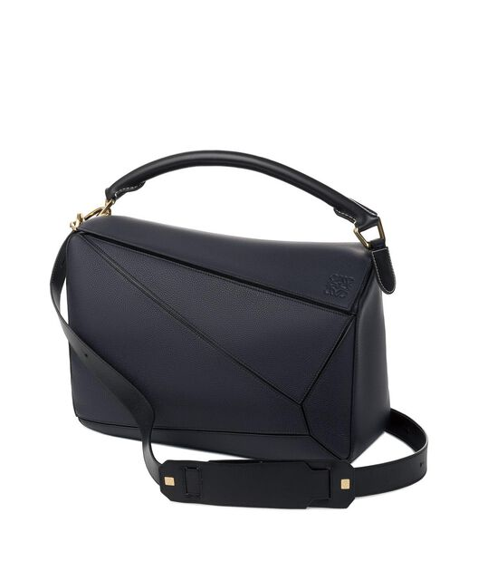 LOEWE Puzzle Large Bag Midnight Blue/Black front