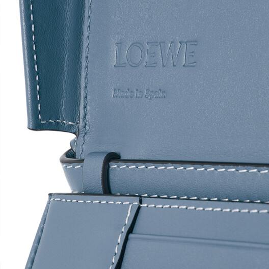LOEWE Heel Mini Bag Steel Blue front