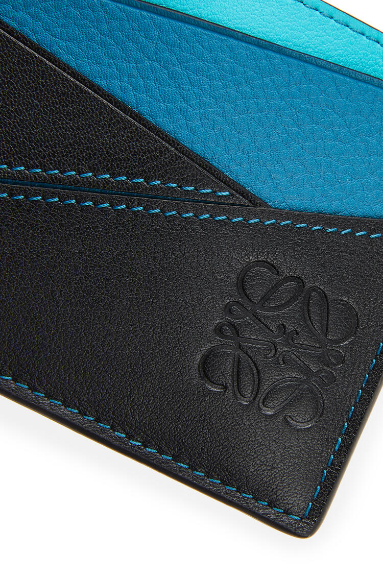 LOEWE Puzzle plain cardholder in classic calfskin Dark Lagoon/Black pdp_rd