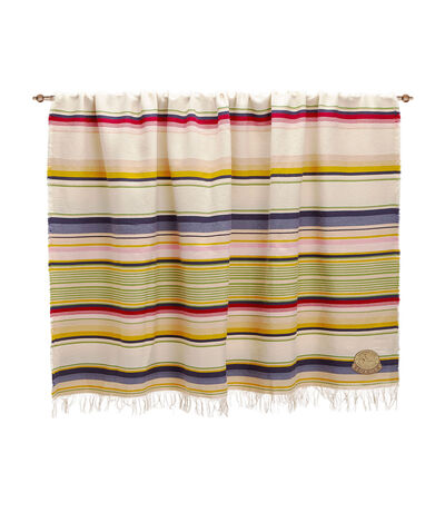 LOEWE 152X210 Blanket Stripes Light Beige/Dark Beige front
