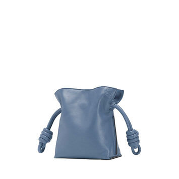 LOEWE Bolso Flamenco Knot Mini Azul Varsity front