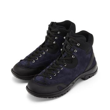 """LOEWE """"EYE""""自然登山靴 Navy Blue/Black front"""