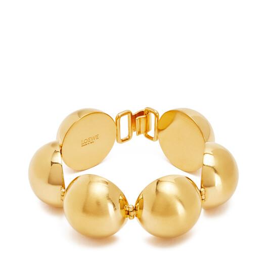 LOEWE Mini Globe Bracelet Gold front