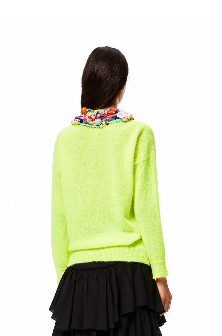 LOEWE Beaded sweater in mohair Neon Yellow pdp_rd