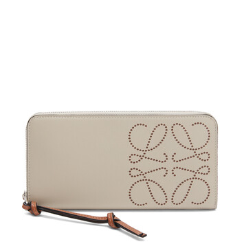 LOEWE Brand Zip Around  Wallet Light Oat/Tan front