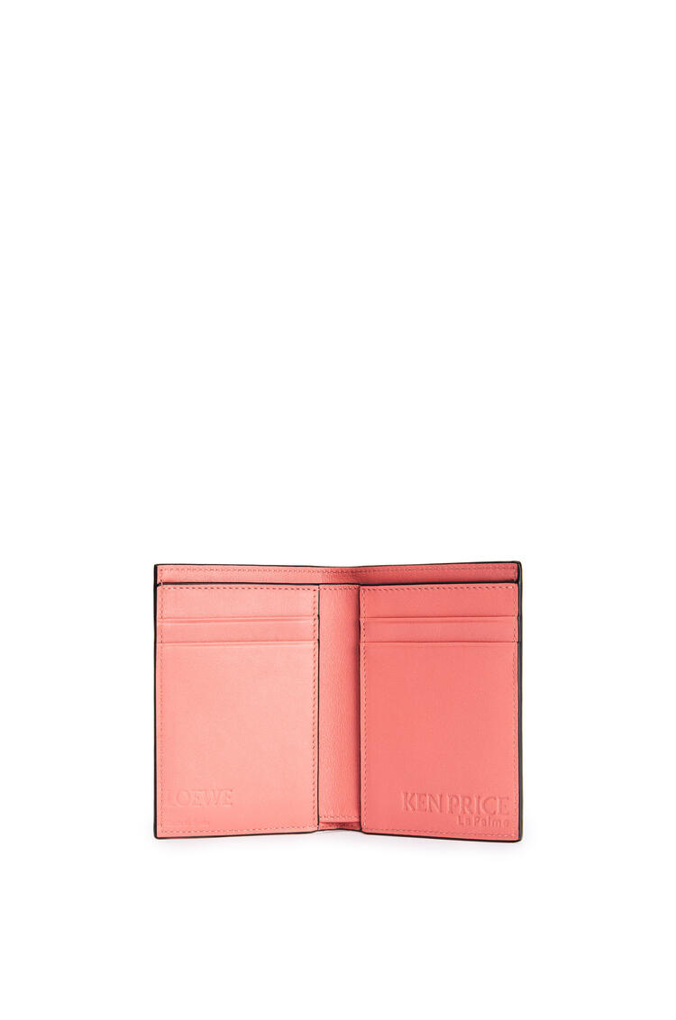 LOEWE La Palme bifold cardholder in classic calfskin Pink Tulip/Multicolor pdp_rd