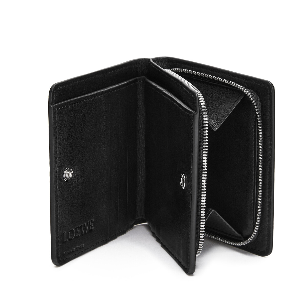 LOEWE Compact Wallet Marine Black/White front
