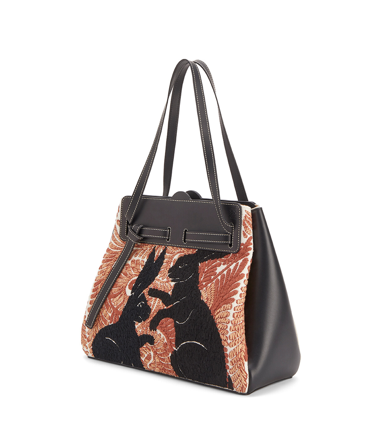 LOEWE Lazo Shopper Animals White/Red front