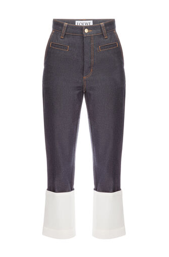 LOEWE Fisherman Contrast Stitching Azul Denim Oscuro front