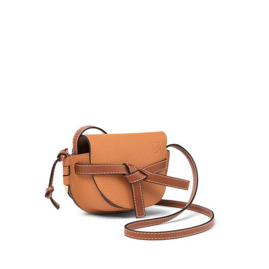 LOEWE Gate Mini Bag Light Caramel/Pecan Color  front