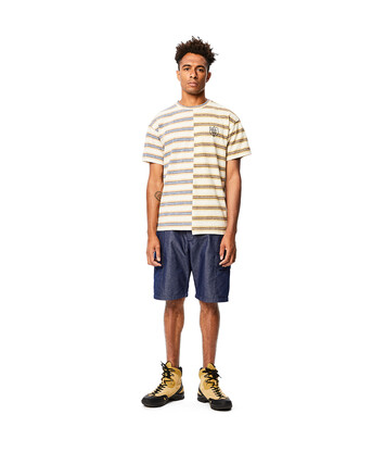 LOEWE Eln Stripe Asymmetric T-Shirt Multicolor front