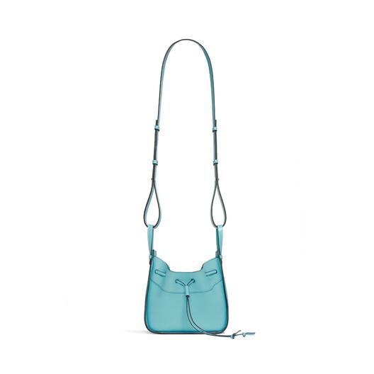 LOEWE Hammock Drawstring Mini Bag Lagoon Blue front