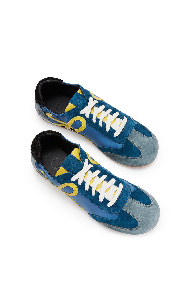 LOEWE Ballet Runner In Nylon And Leather Blue/Yellow pdp_rd