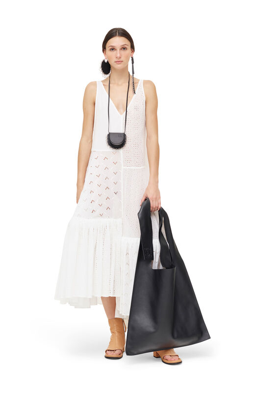 LOEWE Dress Broderie Anglaise White front