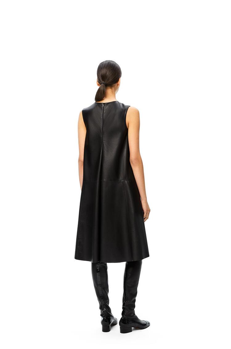 LOEWE Flare midi dress in nappa Black pdp_rd