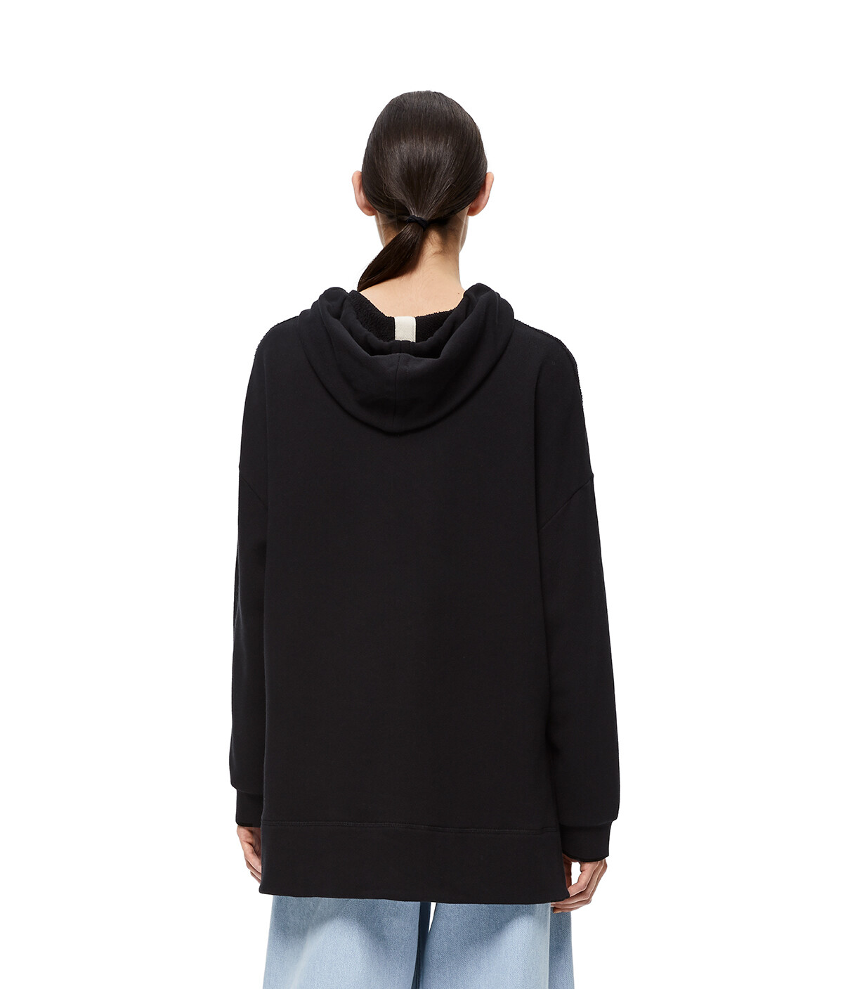 LOEWE Embroidered Hoodie Negro front
