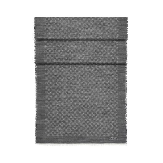 LOEWE 70X200 Scarf Anagram Damier Gris front