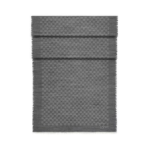 LOEWE 70X200 Scarf Anagram Damier Grey front