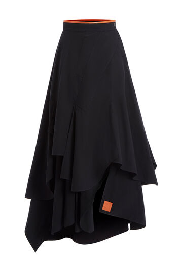 LOEWE Petal Skirt 黑色 front
