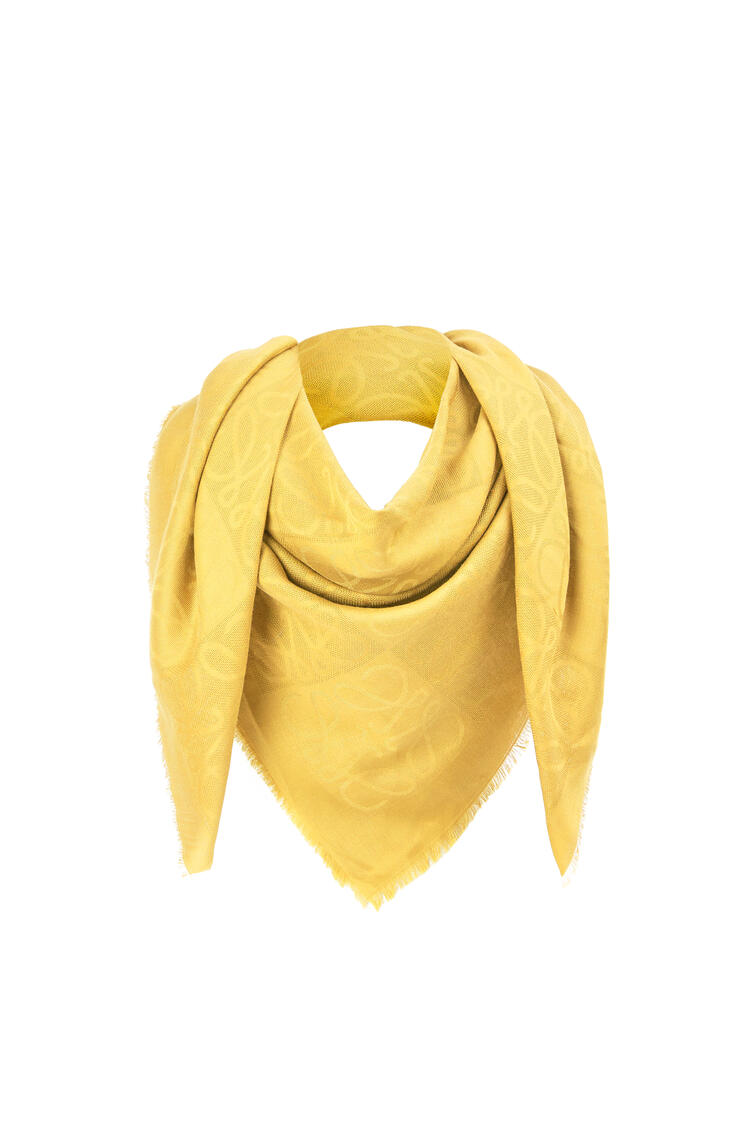 LOEWE Damero scarf in wool, silk and cashmere Yellow Corn pdp_rd