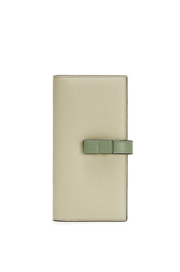 LOEWE Large vertical wallet in soft grained calfskin Sage/Pale Green pdp_rd