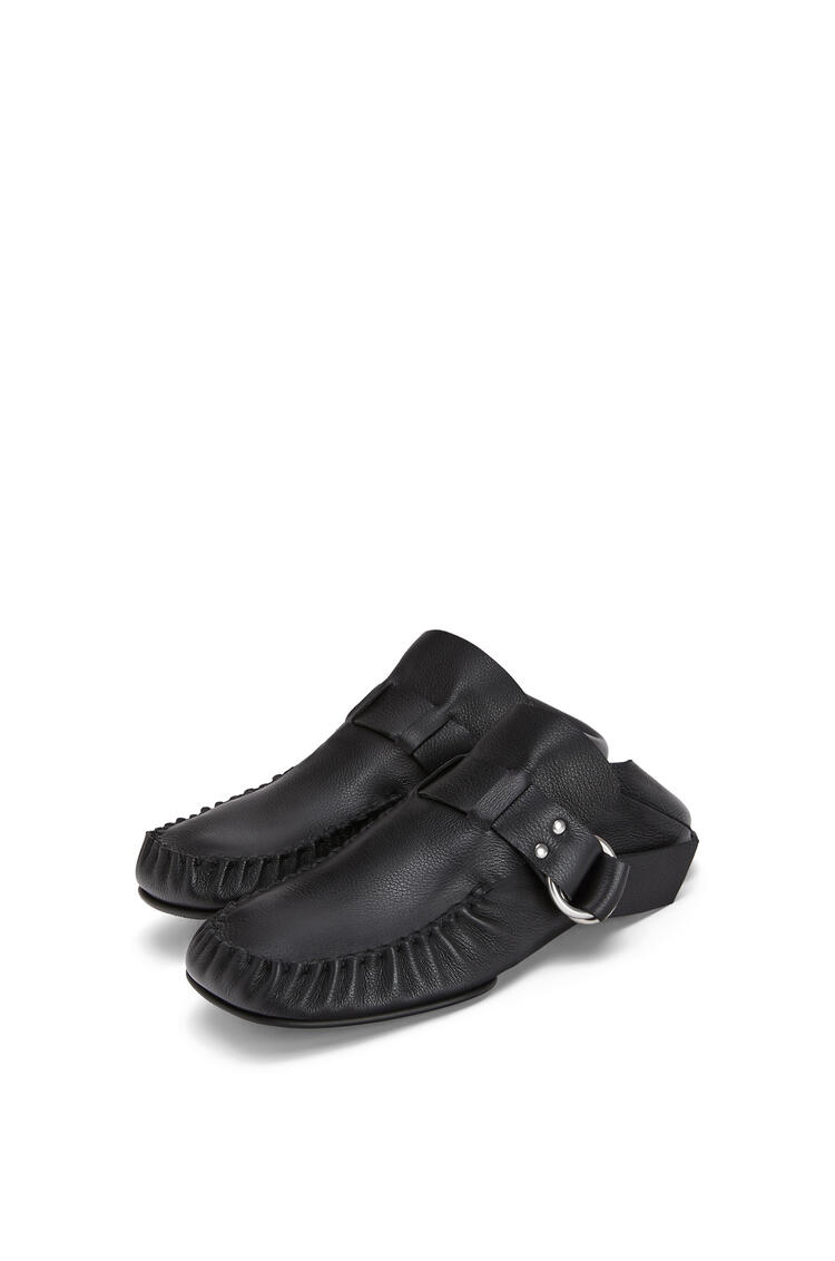 LOEWE Soft Mocassin Rings In Calfskin Black pdp_rd