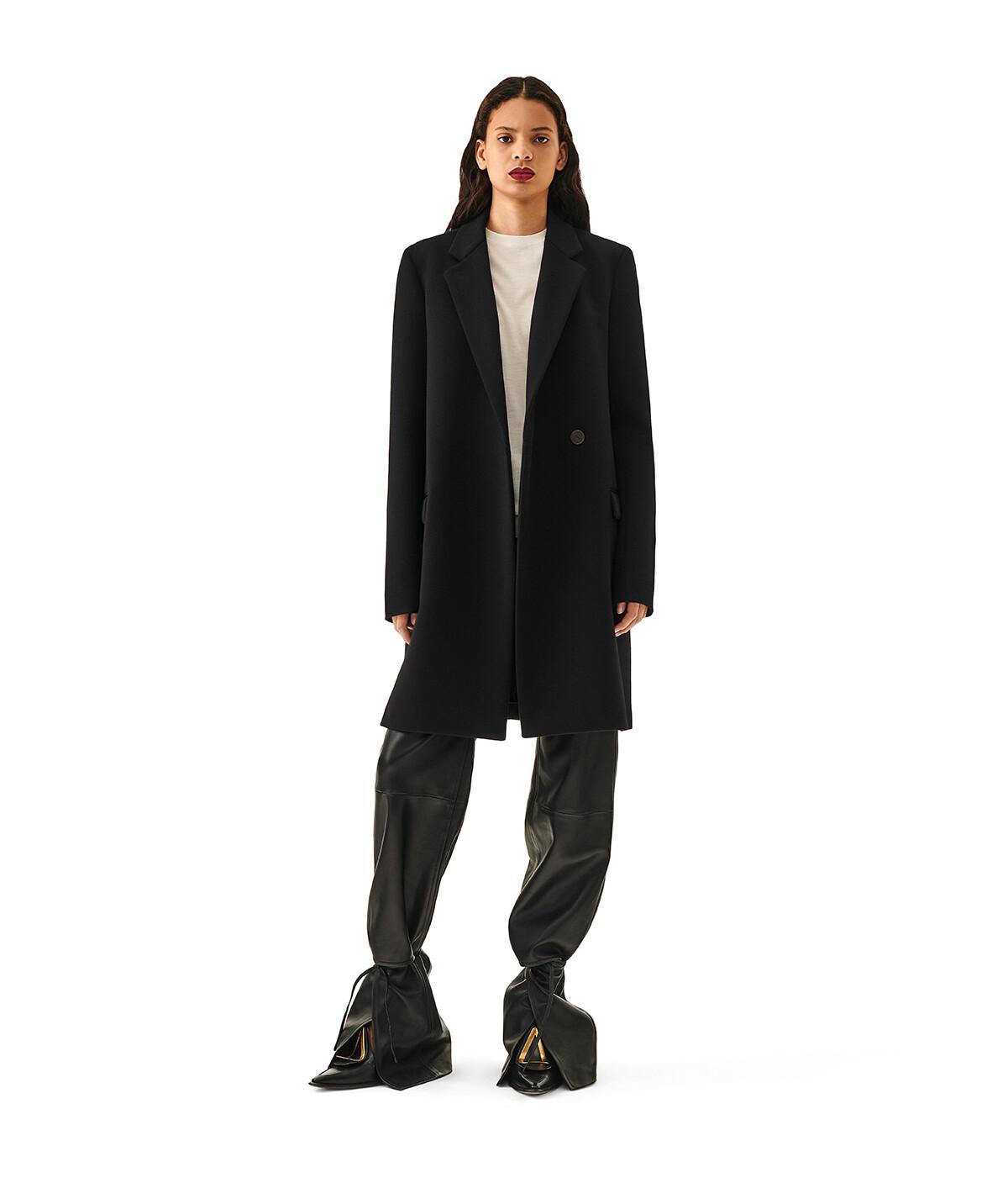LOEWE Wrap Coat Black front