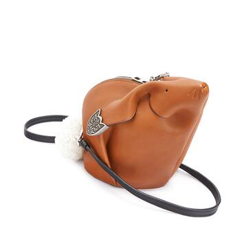 LOEWE Bunny Western Mini Bag Walnut front