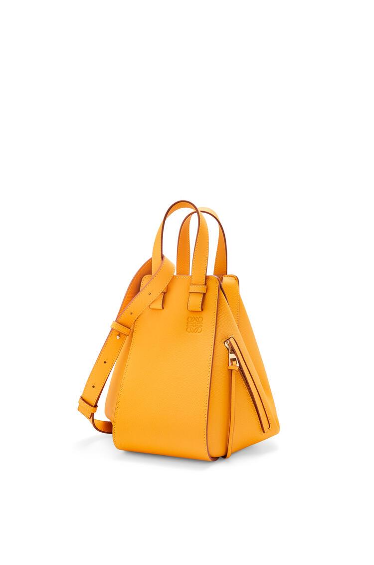 LOEWE Small Hammock bag in pebble grain calfskin Yellow Mango pdp_rd