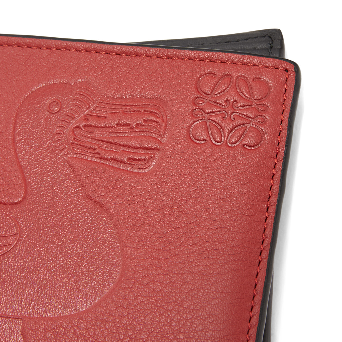 LOEWE Bifold Wallet Animals Red front